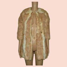 Red Fox Fur Coat Size UK 6 US 4