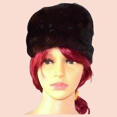 Dark Brown Mink Fur Hat