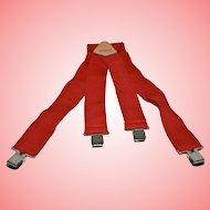 Braces by Brimarc Red Pants Suspenders