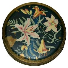 Vintage Flowers Enamel Compact from 1960