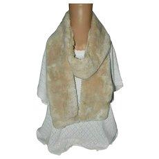 Vintage Blonde Beaver Fur Warm Scarf