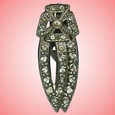Art Deco Fur or Dress Clip