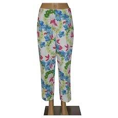 Jaeger White Hawaiian Pants Trousers Size UK 12 US 10