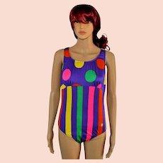 Vintage polka dots bathing suit swimsuit by Triumph International Size UK 8