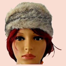 Vintage Arctic Fox Fur Hat
