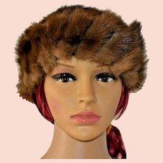 Vintage ILGWU Union Made Canada Rabbit Fur Hat