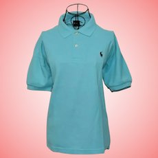 Ralph Lauren Blue Polo Shirt Size UK 14