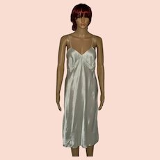 Flapper 1920 Champagne Satin Night Gown Size UK 8