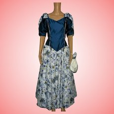 Vintage floral prom dress with satchel Size UK 14 US 12