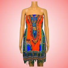Vintage Ethnic Folk Tassels Top or Mini Dress
