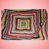 Crocheted Granny Handmade Colourful Blanket Throw