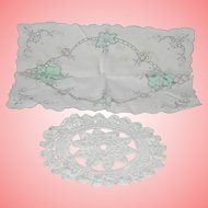 Vintage Handkerchief and Macrame Doilies