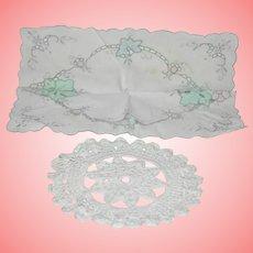 Vintage Handkerchief and Macrame Doilies
