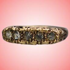 Vintage 9k Gold Gypsy Ring Size UK N 1/2 US 6 3/4 2.19 grams