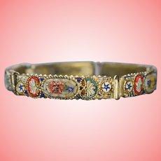 Art Deco Micro Mosaic Floral Bracelet