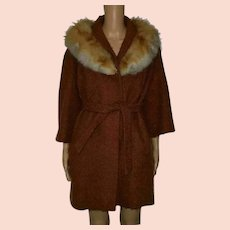 Vintage Fox Fur Coat by Aubrey Segal