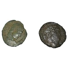 Ancient Roman Constantine Bronze and Plastic Coins 307-339 AD