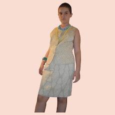 Vintage Diane Freis Spirit Cardamom Skirt Suit Size UK 8