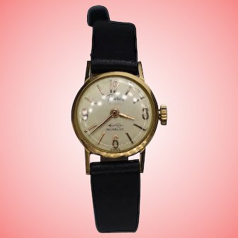 Vintage 18K Gold Ladies Hand Wind Wrist Watch by Fleuron from 1934