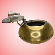 Vintage Brass Travel Portable Mini Ashtray from 1950s 1960s