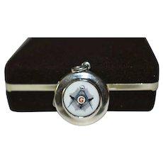 Masonic Silver 925 Photo Locket Pendant