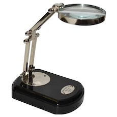 Opticians Magnifying Glass on Stand by Watts & Sons Ltd