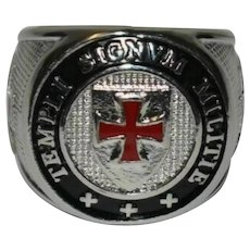 Knights Templar Signet Masonic Ring Size S