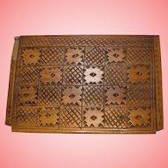 Vintage Croatian Folk Carved Jewellery Storage Box
