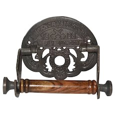 Toilet Roll Holder St Pancras 1883 Cast Iron Railway Theme