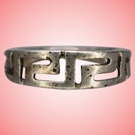 Antique Early Art Deco Silver Ring Size M 1/2 2.56 grams
