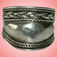 Vintage Silver Braided Ring Size J 3.35 grams