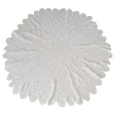 Vintage Round Macrame Peacock Tablecloth Doilies