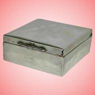 Art Deco Silver Cased Trinket Box by C&W 226.4 grams