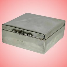 Art Deco Silver Cased Trinket Box by C&W 226.4 grams