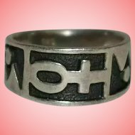 Silver Ring Egyptian Ankh 925 Silver by GNK Size M 4.53 grams