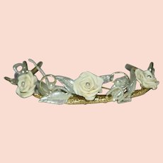 Vintage Mother of Pearl Wedding Crown Band