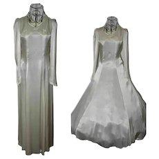 Vintage Cream Wedding Dress from 1950 Size UK 4-6