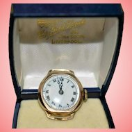9kt Gold Ladies Hand Wind Gold Cased Watch