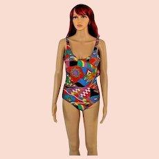Vintage Bathing Suit Swimsuit by Diane Freis Size UK 12 US 10