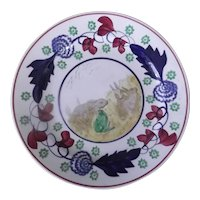 Stick Spatter Rabbitware Plate