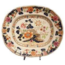 Antique Gaudy Ironstone Platter