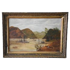 Framed Oil on Board Hudson Valley Scene