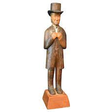A Folk Art Carving of Abe Lincoln