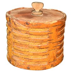A Worked Birch Bark Tobacco Container