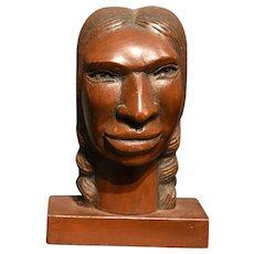 Finely Carved Native Head or Bust Circa 1900