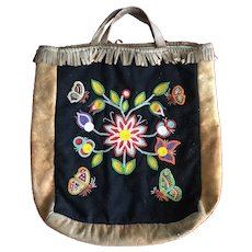 Woodlands Native Beaded Carrying Bag
