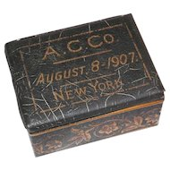 American Can Company Tin Box from New York City, Dated 1907