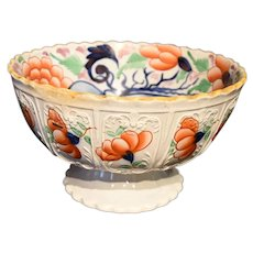 Gaudy Welsh Footed Bowl of Significant Size and Decoration