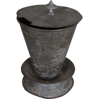 19th Century Tin Hot Toddy Warmer