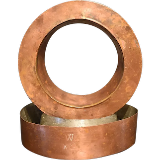 A Pair of 19th Century Bench-Made Copper Bundt Pans